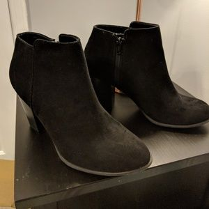 Black Suede-like Booties size 10